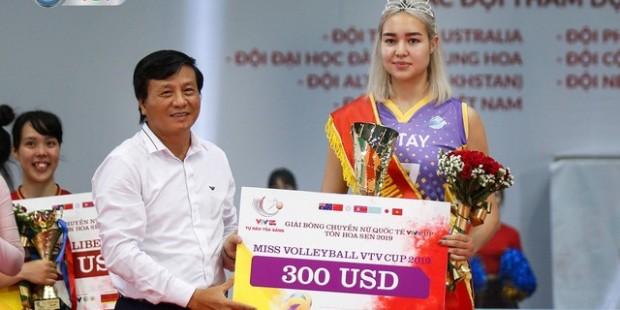 Қазақстандық волейболшы қыз VTV Cup Мисс титулына ие болды - на sport.bugin.kz