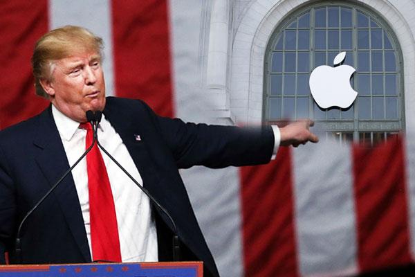 Трамп Apple компаниясына ренішін жеткізді  - на politic.bugin.kz