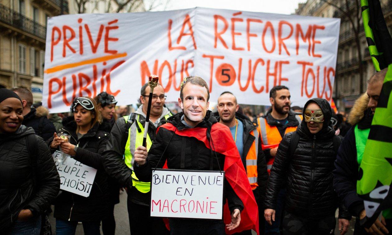 Францияда 187 мың адам зейнетақы реформасына қарсы наразылыққа шықты - на politic.bugin.kz